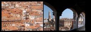 blik van Bovolo naar de Campanile, San Marco