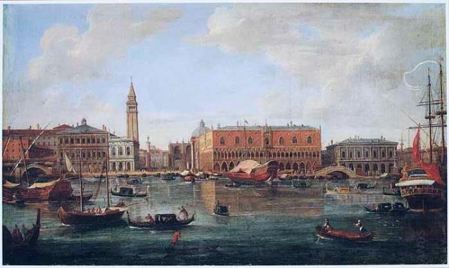 Caspar van Wittel (Vanvitelli) Bacino di San Marco na 1675 - vedutekunst