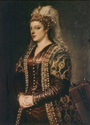 Caterina Coronaro, 1542, doorTitiaan (kunstwerk te Florence)