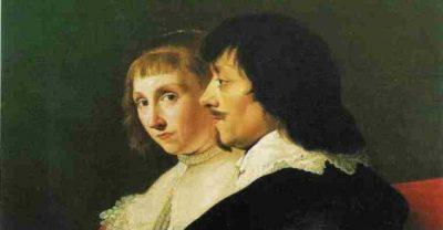 Constantijn Huygens en vrouw