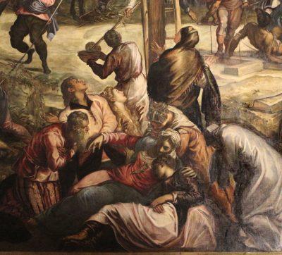 Detail Tintoretto's 'Kruisiging' in Scuola Grande di San Rocco