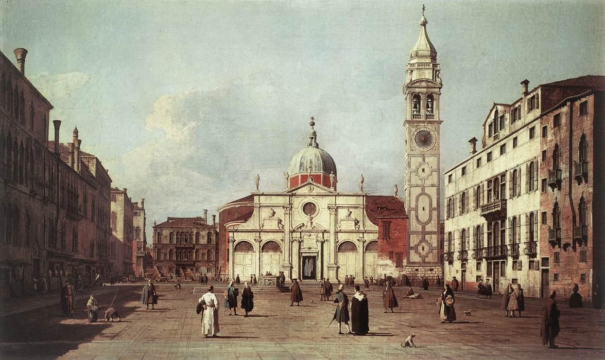 Canaletto schilderde het plein Campo Santa Maria Formosa