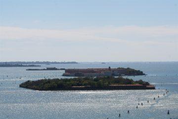 blik over de lagune vanaf San Giorgio