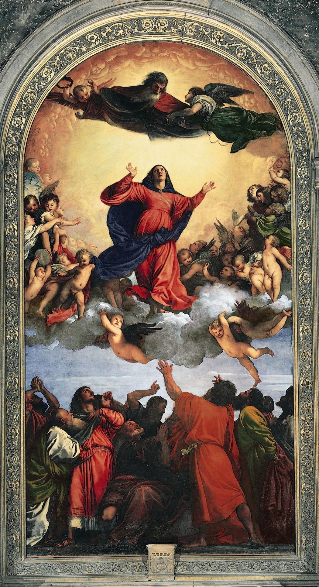 Maria Hemelvaart 1516 Titiaan Frari-kerk