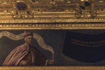 portret van Marino Faliero is overgeschilderd