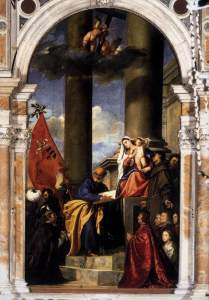 Familie Pesaro door Titiaan (Frari-kerk)