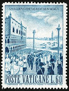 Postzegel Giuseppe Sarto 1959 Venice