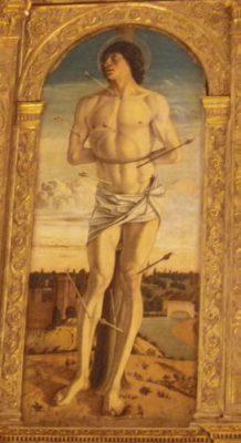 """""""San Sebastian door Bellini circa 1464/1468 in Chiesa Zanipolo, Venetië (SS. Giovanni e Paolo)"""