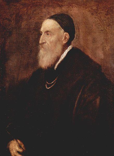 Afbeelding: Titiaan, zelfportret 1566.