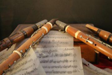 muziekinstrumenten en bladmuziek Vivaldi-museum