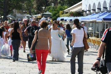 bruid in Venetië