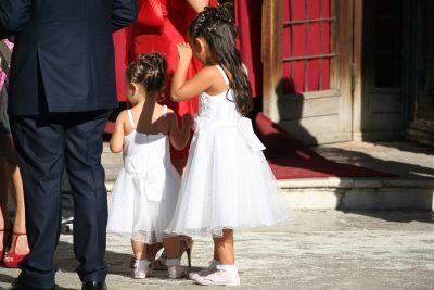 moderne bruidsmeisjes in Venetië